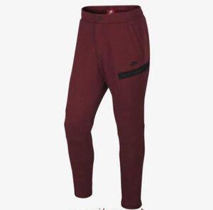 Nike Sportwear Tech Fleece Mens Pants Red Size L 805218 688