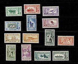 DE861 FALKLAND ISLANDS 1952 King George VI and local motives  MH