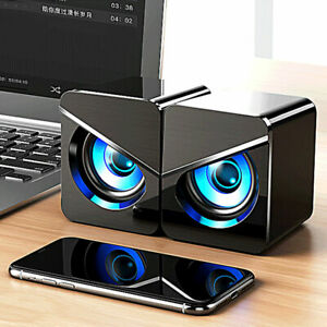 Home Office Sound Box With Lighting For PC Small Computer Gaming Wired Speaker