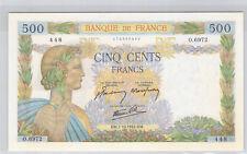 France 500 Francs La Paix 1.10.1942 O.6972 n° 174288448 Pick 95b