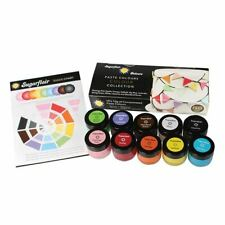 Sugarflair Paste Colours Collection 10 X 10g Food Colouring