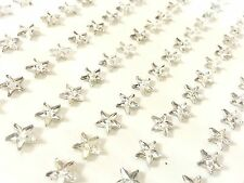 120pcs 6mm Self Adhesive CLEAR STAR Rhinestone Stick on Gems Wedding CRAFT