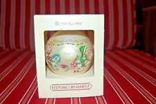 1983 Hallmark Keepsake Glass Ornament Betsy Clarke Christmas Happiness in Box