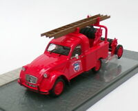 Atlas Editions 1/43 Scale 2428 019 - Citroen 2CV AZU-B Fire Truck - Red