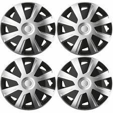 "4x Silver/Black 15"" Inch Deep Dish Van Wheel Trims Hub Caps For Peugeot Boxer"