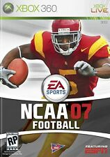 XBOX 360 NCAA Football 07 Video Game Multiplayer Online College Gridiron 2007