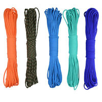 31M /100 FT 550 Paracord Parachute Cord Lanyard Mil Spec Type III 7 Strand Core