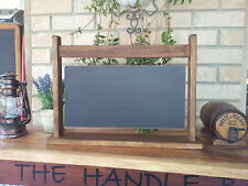 Hanging Sign Style Chalkboard Blackboard with Timber Stand