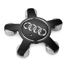 4 Cache Moyeu Centre de Roue Audi 135mm 5 Branche Noir A3 A4 A5 A6 A7 A8 Q5 Q7
