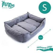 Heavy Duty Pet Bed Mattress Dog Cat Pad Mat Suede Cushion Blanket Washable S