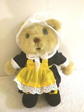 "Americana Souvenir Pilgrim Bear Plush 12"" Gettysburg Pa Thanksgiving Decor Doll"