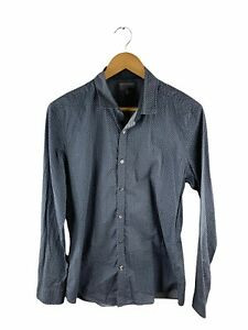 Witchery Button Up Shirt Mens Size M Green Grey Geometric Long Sleeve Collared
