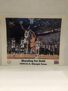 "VINTAGE 1992 USA OLYMPIC BASKETBALL TEAM MICHAEL JORDAN MAGIC POSTER 22""x 28"""