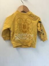 Baby Yellow Long Sleeve MICKEY Jumper by DISNEY MOTHERCARE - 6-9 Months