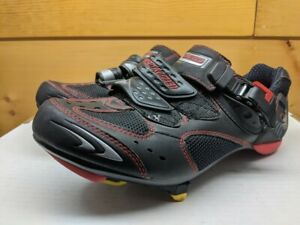 Specialized BG Pro road shoe black/red with cleats 41 buckle