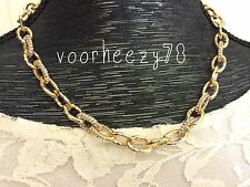 Christina link chunky gold chain mini pave statement necklace US SELLER