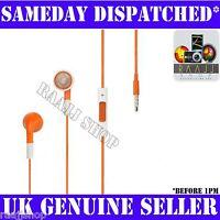 Orange Headphones Earphones Handsfree + Volume + Mic For iPhone 4 4S 3GS iPad 2