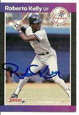 ROBERTO KELLY NEW YORK YANKEES SIGNED AUTOGRAPHED 1989 DONRUSS CARD #433 W/COA