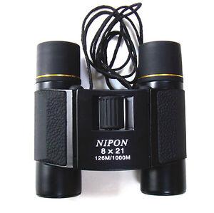 8x21 compact binoculars. Metal body, large eyepiece, fully multi-coated optics