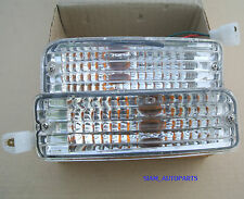 2 x Toyota Hilux 88-97 Clear Bumper Bar Indicator Lights 1989 - 1997 90 91 92