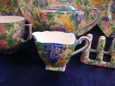 ROYAL WINTON GRIMWADES- SOMERSET BLUE (1930's) ASCOT CREAMER- FOR BREAKFAST SET!