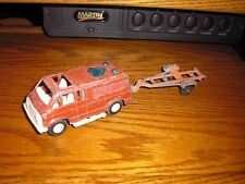 Vintage Tootsie Toy California Calif. Van with a boat trailer Free Shipping