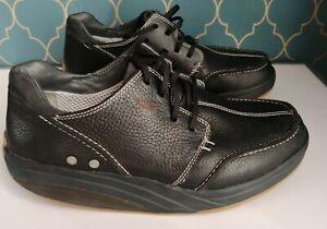 Mens MBT Patent Leather Lace Physiological Shoe Trainer Black UK8.5 EU43 US 9.5