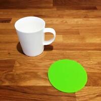 Rotondo Verde Lime Finitura Lucida Acrilico Sottobicchieri,Set da 4,6/8,10cm