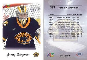 2021 All Sports #317 Jeremy Swayman RC rookie Providence Boston Bruins