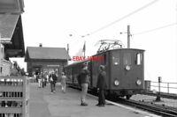 PHOTO  BASEL TRAIN 1988 SPB ALPENGARTEN LOCO AND TRAIN