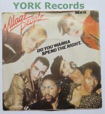 "VILLAGE PEOPLE - Do You Wanna Spend The Night - Ex 7"" Single Mercury MER 75"