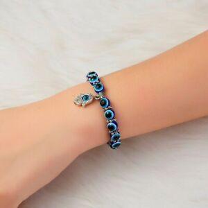 CRYSLOVE Tennis Bracelet for Women Blue Crystal Evil Eye Bracelet Bangles Necklace,Pendant Necklaces for Women Bracelets for Her