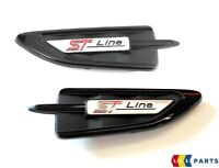 NEW GENUINE FORD KUGA 17- FRONT WING CARBON BLACK ST LINE BADGE LEFT RIGHT PAIR