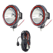 Pair 7 inches 4x4 Off Road 6000K 55W Xenon HID Fog Lamp Light SPOT 2pcs +RELAY
