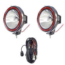 Pair 7 Inches 4x4 Off Road 6000k 55w Xenon Hid Fog Lamp Light Spot 2pcs Relay
