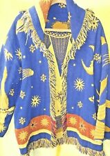 Vintage Blanket Jacket Coat Zodiac Handmade & Purchased in Mexico