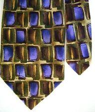 "J. Garcia Men's Silk Novelty Neck Tie Emerald City Abstract Purple 3 7/8"" x 58"""