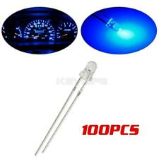 100x 3mm Blue Dashboard Gauge Cluster Miniature Diodes Light Lamp for Volvo