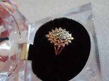 Vintage Diamond Cluster .50ct tdw 14K Yellow Gold Ring