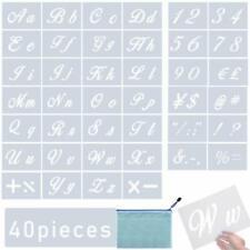 BHAHAI 40 PCS Art Letter Stencils, Alphabet Stencils Templates Calligraphy Upper