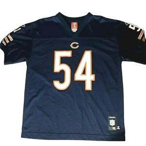 Reebok Women's Chicago Bears Jersey Blue #54 Brian Urlacher Size XL Screen Print