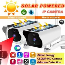 1080P HD Outdoor Wireless Solar Powered IP Camera WiFi Security Night Vision Cam