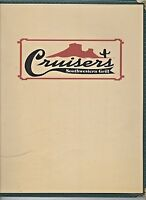 Older Restaurant Menu -CRUISERS Southwestern Grill-Grand Junction Colorado