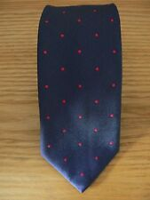 NWOT: Thomas Pink, Charcoal/ Red Spot Woven Silk Tie