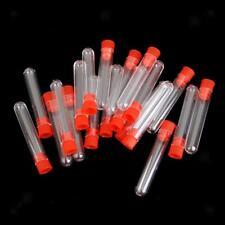 20pz / Set Tubi Provette Per Centrifuga Laboratorio Test Cilindro Plastica