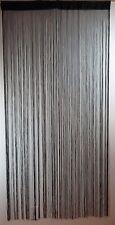 "Decorative Curtain Black Polyester Door Window Room Divider - 36"" x 72"" - New"