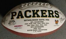 Green Bay Packers Printed Team Signatures Football Super Bowl Champions