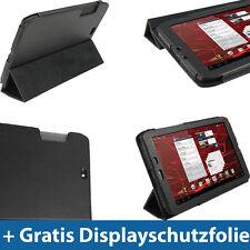 """Schwarz Leder Tasche für Motorola Xoom 2 Media Edition 8.2"""" Droid Xyboard Hülle"""