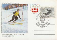 1964 Austria card - 9th Winter Olympic Games Innsbruck - Axams Axamer - Lizum