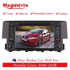 "7"" Car DVD GPS Navigation Head Unit Stereo Player For Honda Civic 2016-2018"